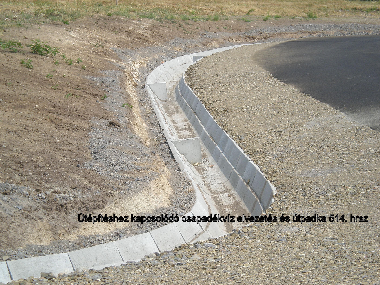 Útfejlesztés és vízelvezetés útpadkával